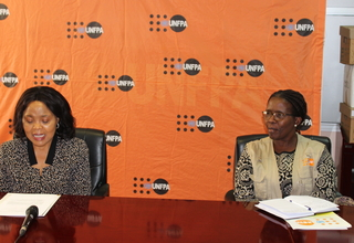Senator Lizzie Nkosi and AHO Margaret Thwala-Tembe