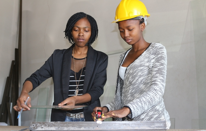 Young Swazi women at work