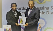Honourable Minister of Economic Planning and Development, Prince Hlangusempi launching the Demographic Dividend report together with the UNFPA Assistant Representative, Ms. Margaret Thwala-Tembe ©UNFPA 2017