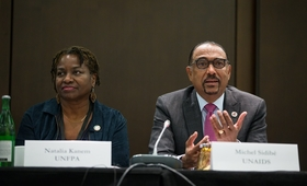 HIV Prevention Global Co-Leaders,UNFPA Executive Director Dr. Natalia Kanem and UNAIDS Executive Director Mr. Michele Sedibe